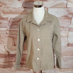 Coldwater Creek Tan Patchwork Blazer